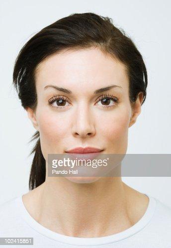 Portrait of a woman, close-up : Stock Photo