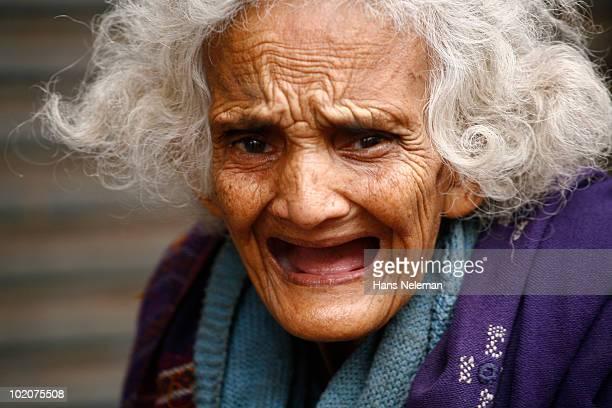 Portrait of a woman crying, Delhi, India