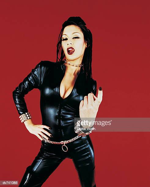 Portrait of a Woman Dressed in a Catsuit