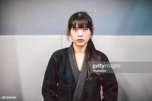 Portrait of a Woman in a Kimono