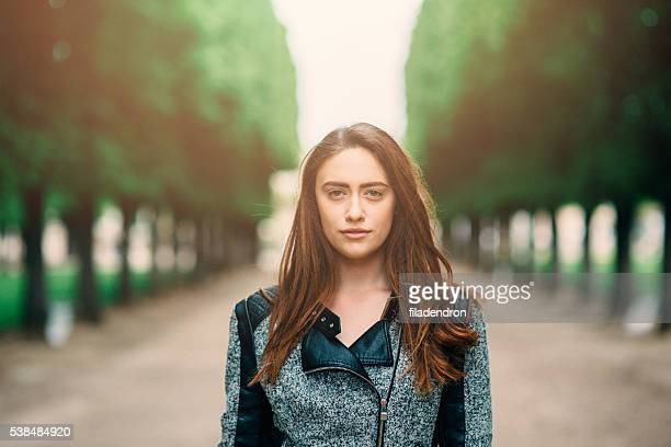 Portrait of a woman in Luxembourg Garden