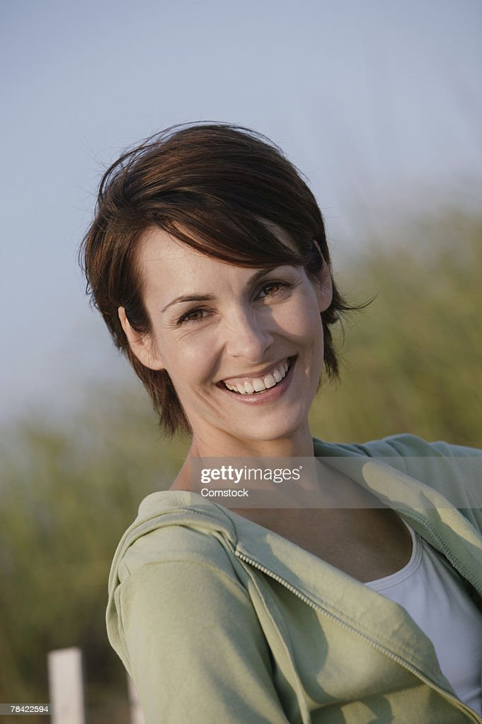 Portrait of a woman outdoors : Stock Photo