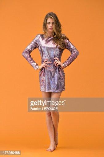 Portrait of a woman posing