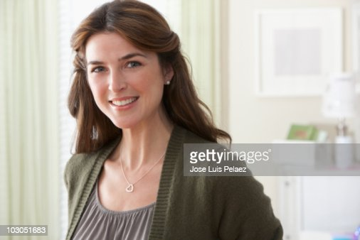 Portrait of a woman smiling : Stockfoto