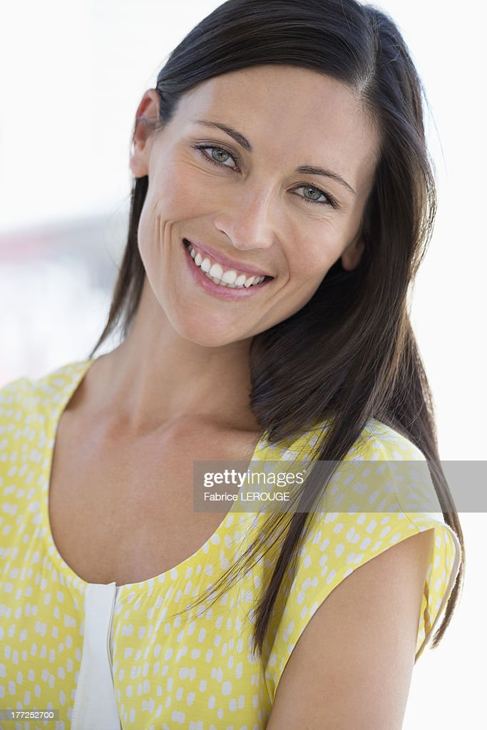Portrait of a woman smiling : Stock Photo