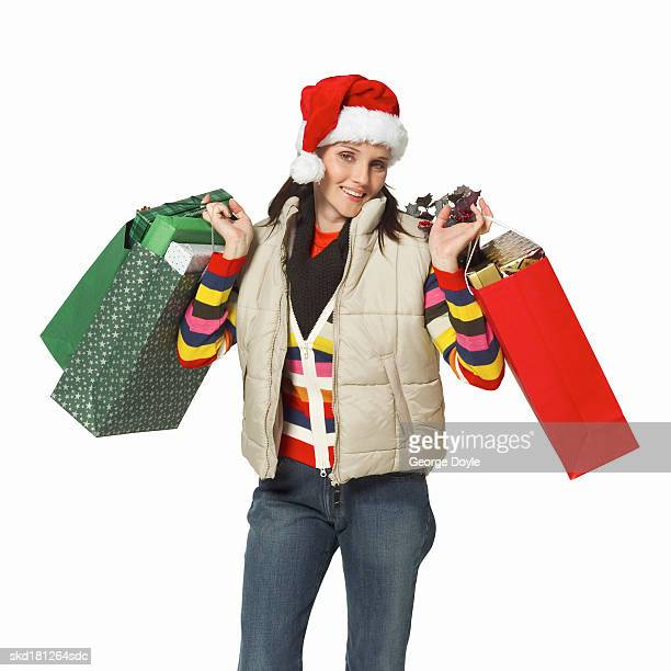 Fantastic Woman With Shopping Bags Royalty Free Stock Image  Image 34470616