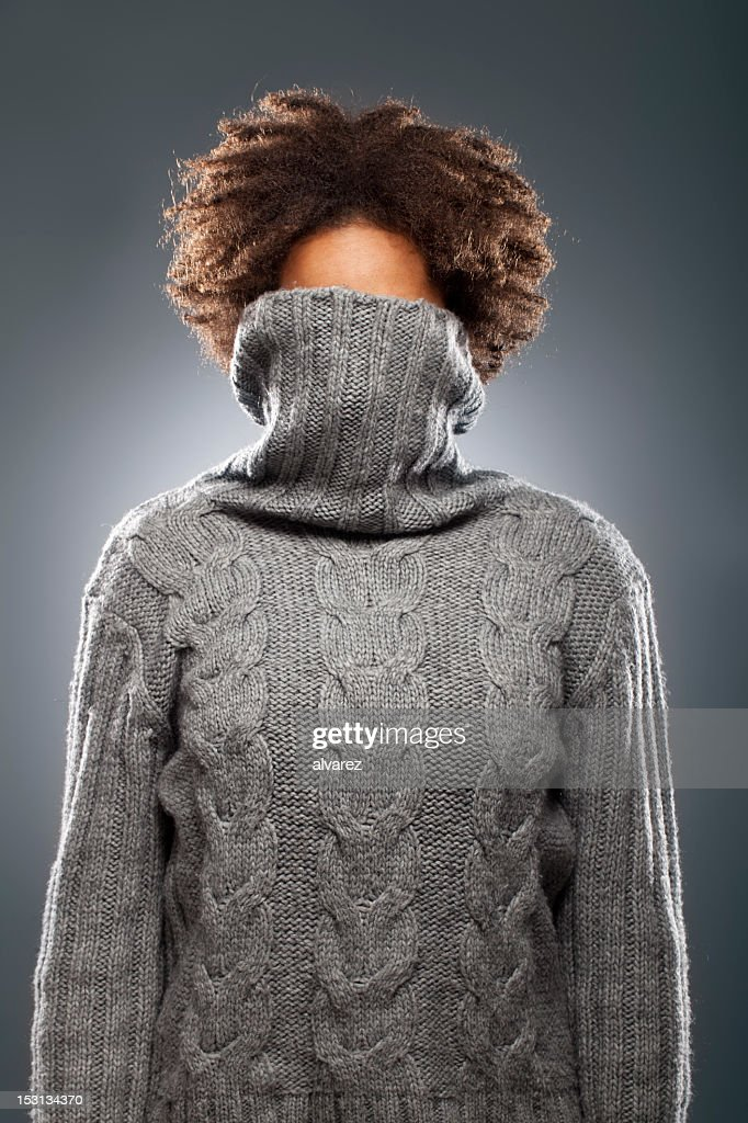 Portrait of a woman with sweater
