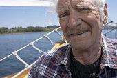 Portrait of a yachtsman onboard a boat