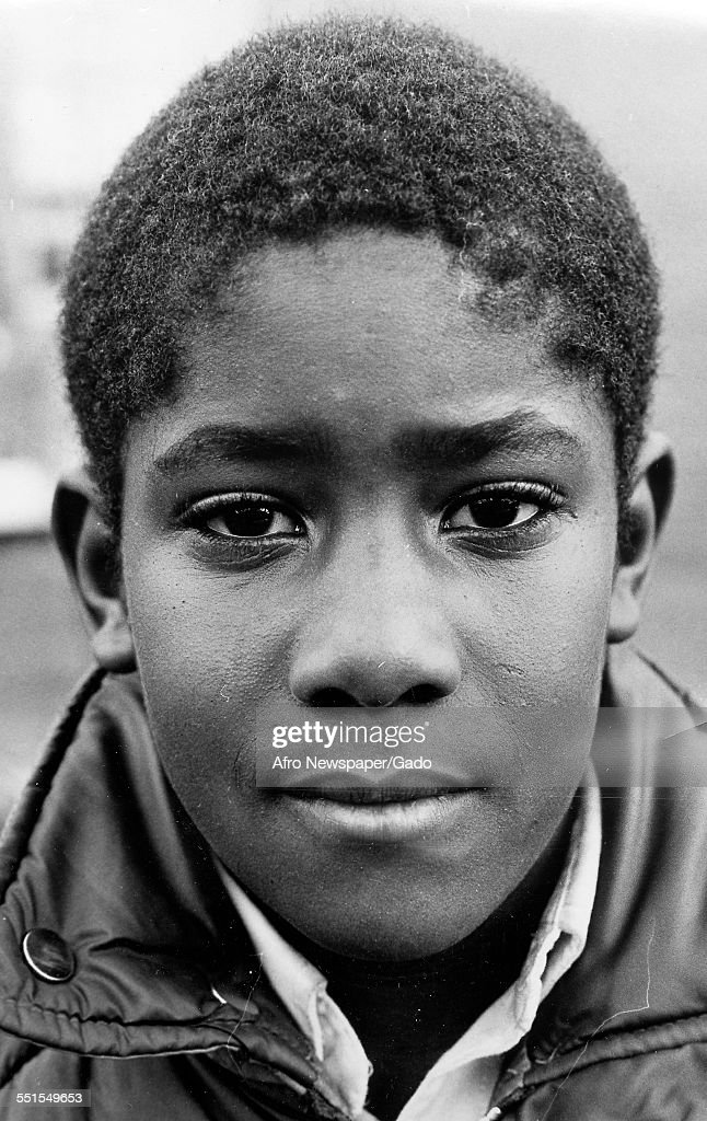 Portrait of a young African-American boy, January 12, 1980.