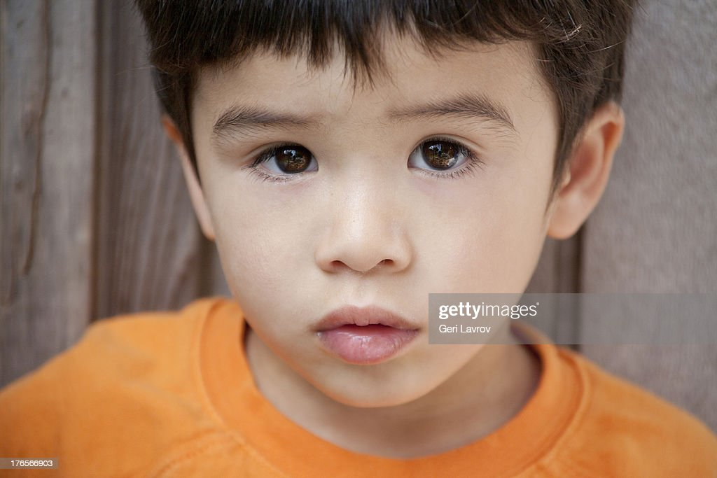 Portrait of a young Asian boy : Stock Photo
