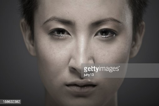 Portrait of a young asian girl : Stock Photo