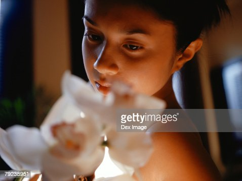 Portrait of a young Asian woman : Stock Photo