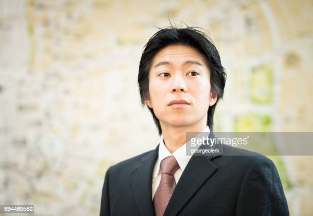 Portrait of a young businessman in Tokyo