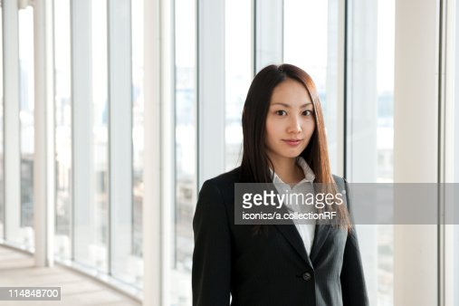 Portrait of a young businesswoman, Tokyo Prefecture, Honshu, Japan : Stock Photo
