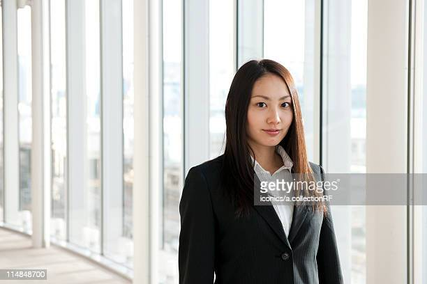 Portrait of a young businesswoman, Tokyo Prefecture, Honshu, Japan