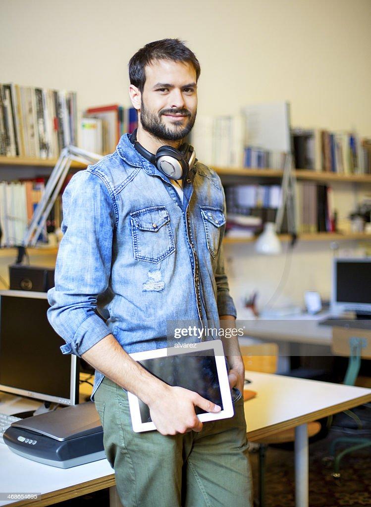 Portrait of a young entrepreneur : Stock Photo