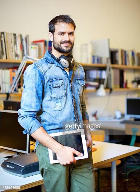 Portrait d'un jeune entrepreneur