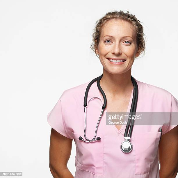 Portrait of a young female doctor wearing a stethoscope