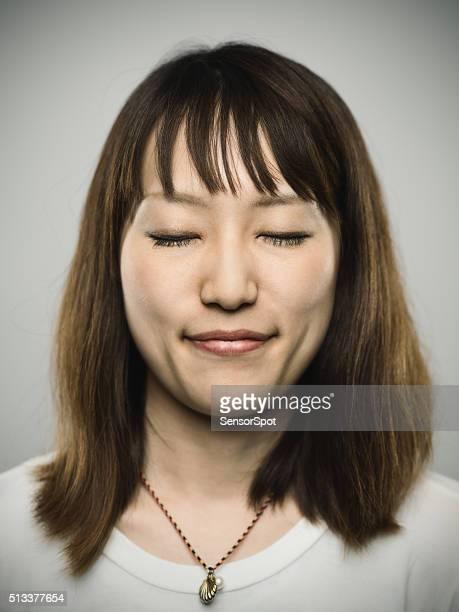 Retrato de un joven mujer japonés.