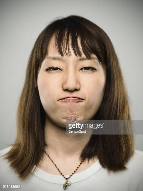Portrait of a young japanese woman.