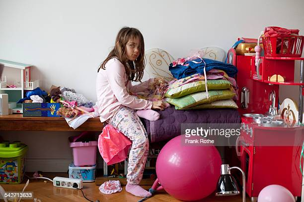 portrait of a young kind in the playroom