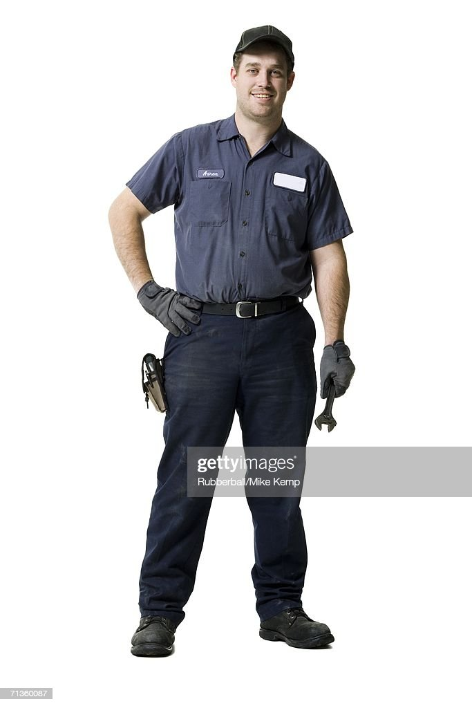 Portrait of a young male mechanic