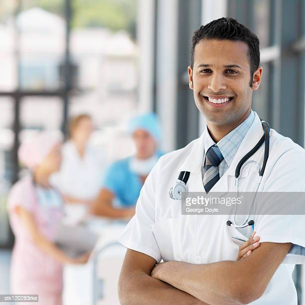 Portrait of a young male medical professional