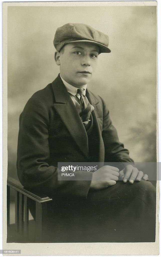 Portrait of a young man circa 1930s