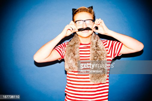 Portrait of a young man in fancy dress : Stock Photo
