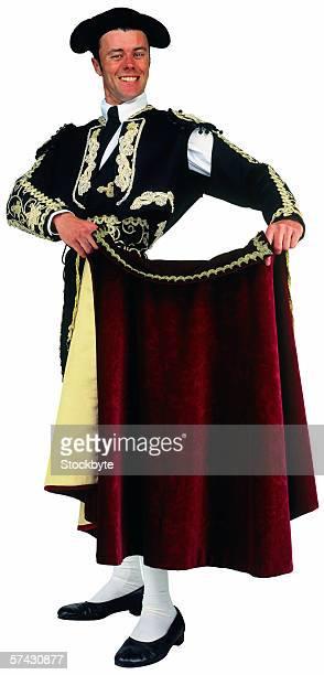 Portrait of a young matador in uniform