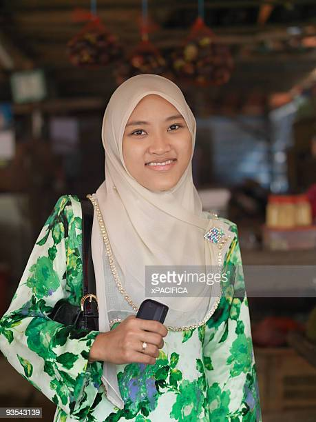 Portrait of a young muslim Malaysian woman.
