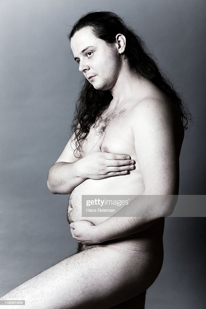 Portrait of a young naked man : Photo