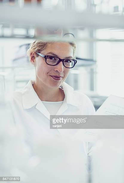 Portrait of a Young Scientists in the Laboratory