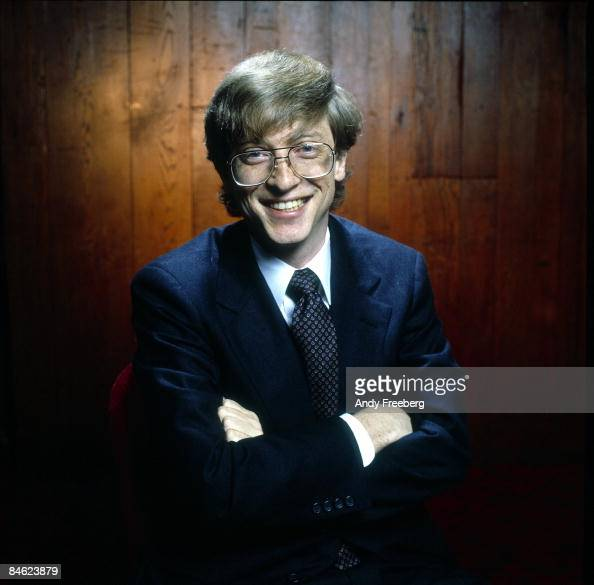 Portrait of a young smiling Bill Gates cofounder of the software company Microsoft while in New York City 1984