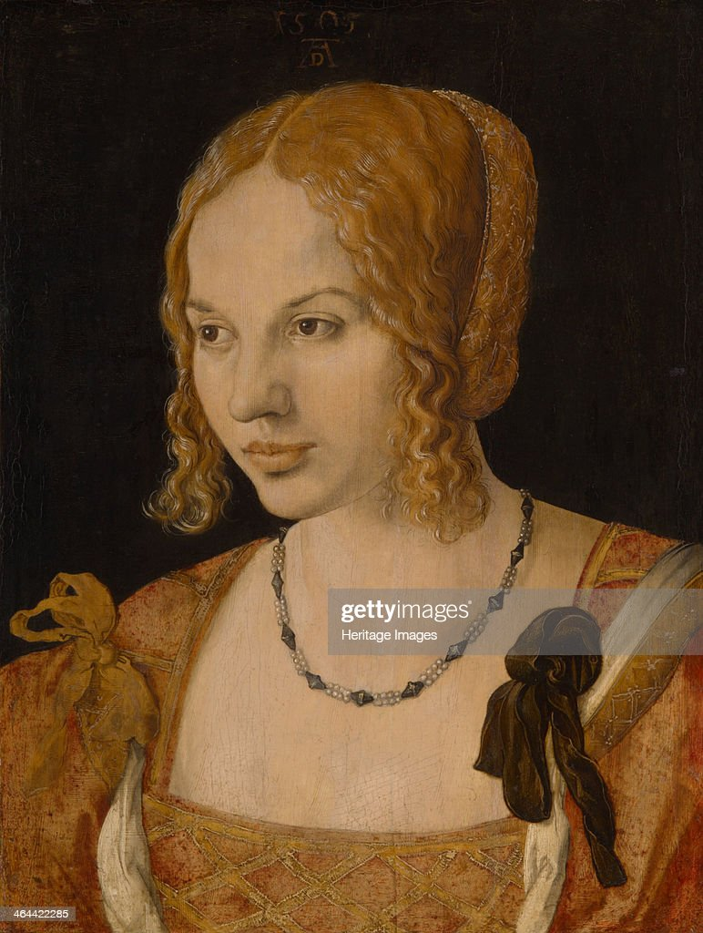 Portrait of a Young Venetian Woman 1505 Found in the collection of the Art History Museum Vienne