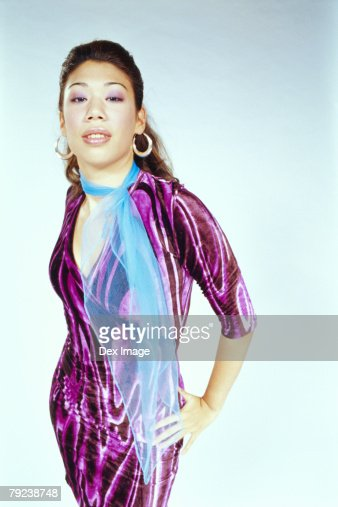 Portrait of a young woman posing : Stock Photo