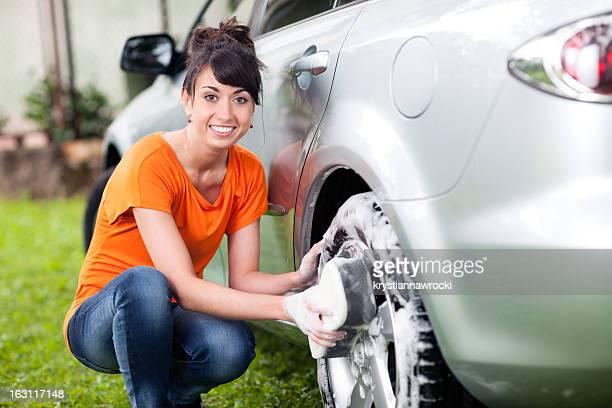 Waschen Auto-Rad