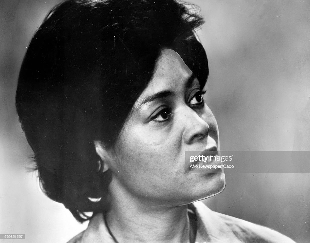 Portrait of Abbey Lincoln, actress and star of the television series Wine in the Wilderness, Richmond, Virginia, 1970.