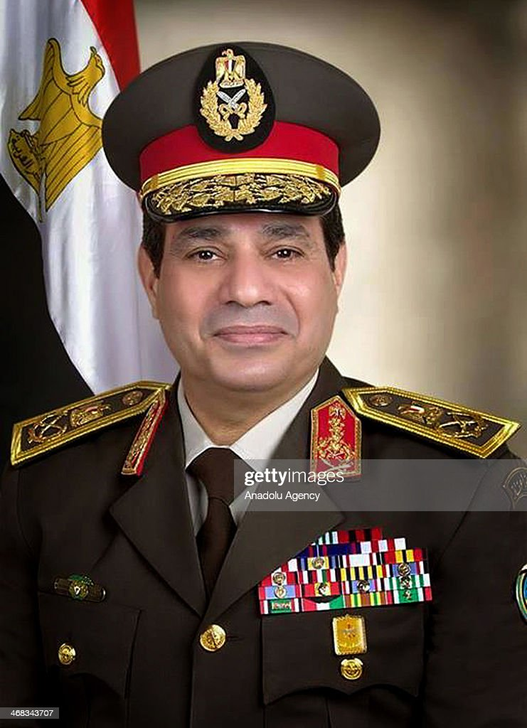 A portrait of Abdel Fattah el-Sisi, the head of the armed forces, is published by the official Facebook page of Egyptian Armed Forces, with field marshall uniform on for the first time, February 10, 2014.