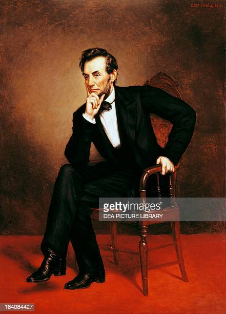 Portrait of Abraham Lincoln 16th President of the United States of America Painting by George Peter Alexander Washington Smithsonian Institution...