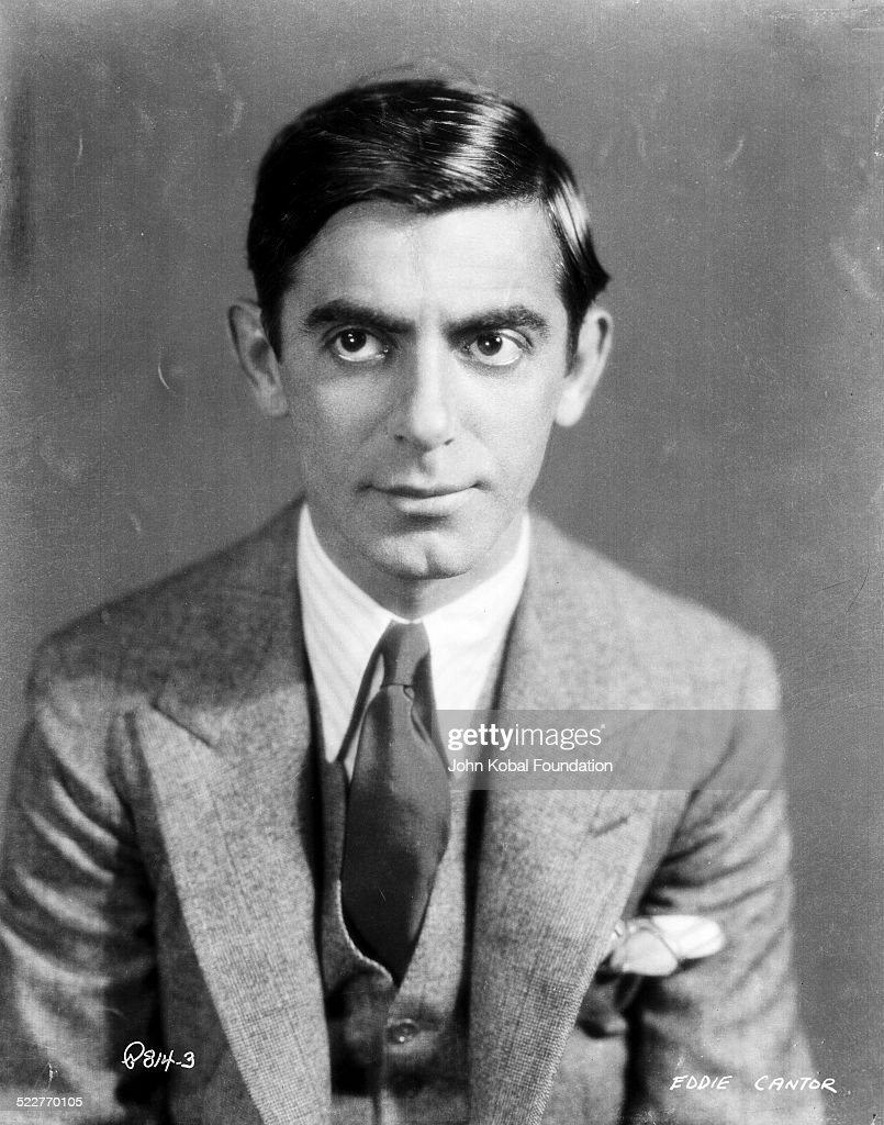 Portrait of actor and comedian <a gi-track='captionPersonalityLinkClicked' href=/galleries/search?phrase=Eddie+Cantor&family=editorial&specificpeople=93329 ng-click='$event.stopPropagation()'>Eddie Cantor</a> (1892-1964) wearing a suit and tie, with Samuel Goldwyn Co, 1932.