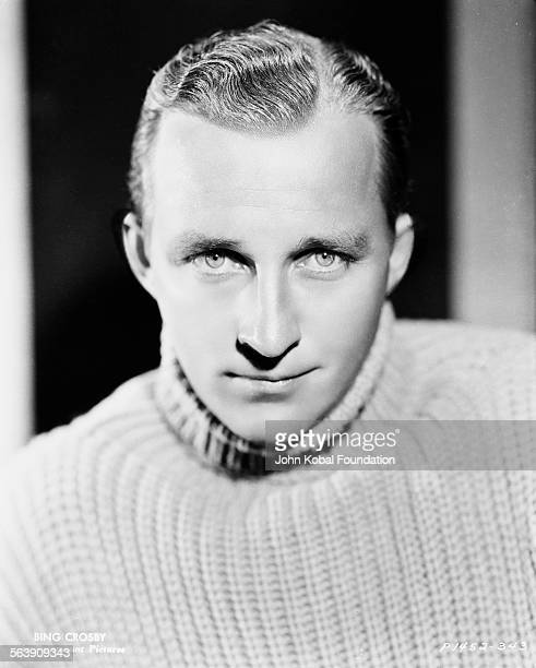 Portrait of actor Bing Crosby wearing a turtle neck sweater for Paramount Pictures 1934