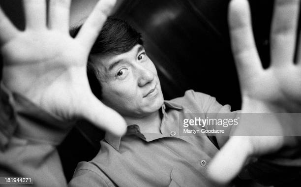 Portrait of actor Jackie Chan London 1997