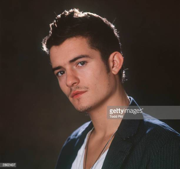 Portrait of actor Orlando Bloom who plays Legolas in the film Lord Of The Rings photographed at the Waldorf Astoria hotel in New York 12/5/2001 Photo...