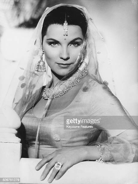 Portrait of actress Debra Paget in costume as she appears in the film 'The Tiger of Eschnapur' with CCC Films October 15th 1958