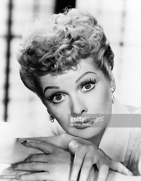 A portrait of actress Lucille Ball circa 1950's