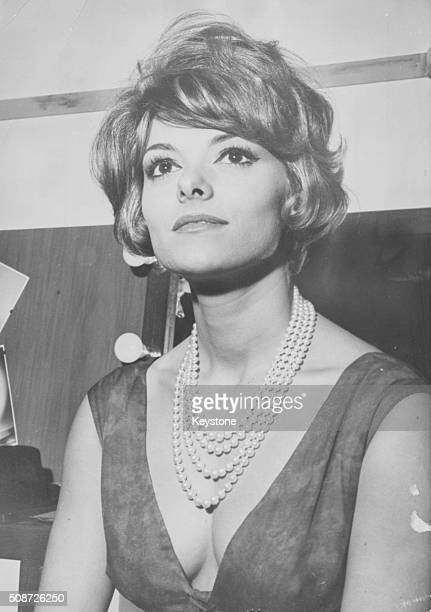 Portrait of actress Perrette Pradier star of the film 'Blague dans le Coin' 1963