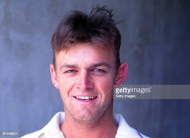 A portrait of Adam Gilchrist of Australia