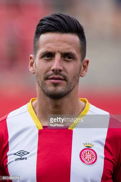 Portrait of Aday Benitez from Spain of Girona FC during the Costa Brava Trophy match between Girona FC and Manchester City at Estadi de Montilivi on...
