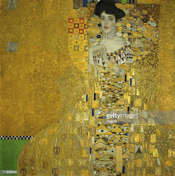 Portrait of Adele BlochBauer I D150 138 138 cm Oil on Canvas by Gustav Klimt 1907 [Bildnis Adele BlochBauer I D150 138 138 cm oel/Lwd 1907]